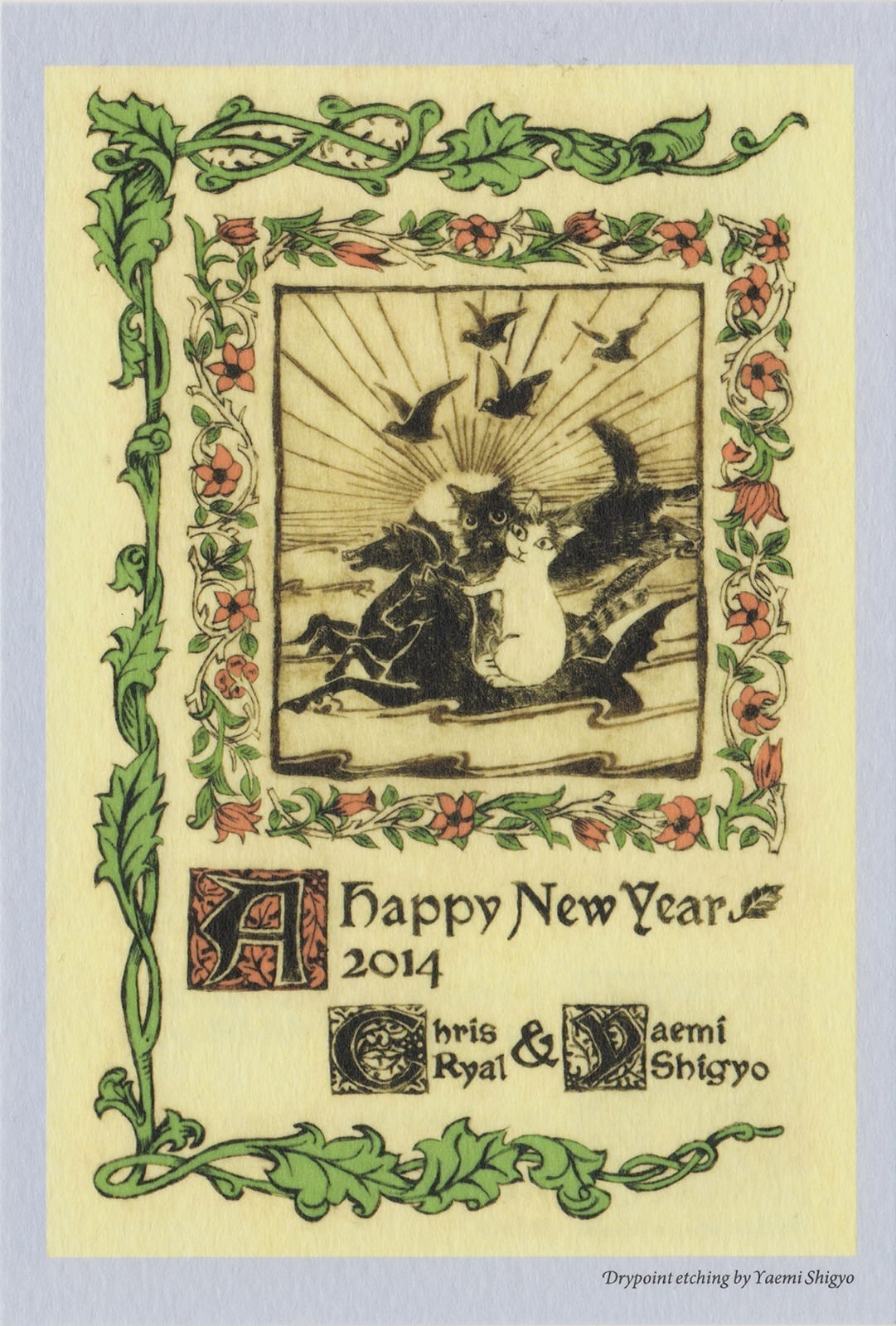 2014 (Heisei 26) New Year's Card: Year of the Horse (front)